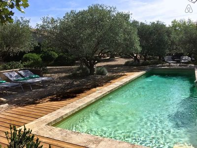 Photo for #ChicVilla Heated pool, pétanque area,  standing near Lourmarin