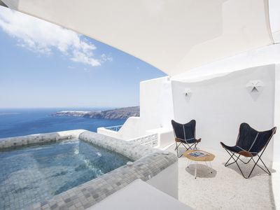 Photo for The Seascape Villa In Imerovigli With Jacuzzi