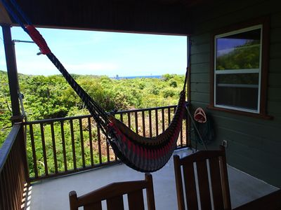 Photo for Oceanview Hammock House in Secluded Magical Jungle