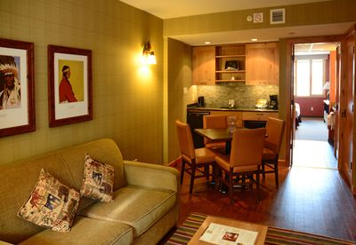 Unwind in this comfortable living area after a fun-filled day