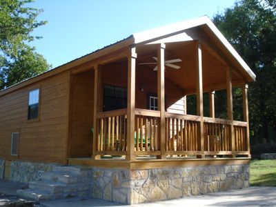 Photo for 1 bedroom cabin, sleeps four. Pet friendly. Property is on Brazos River.