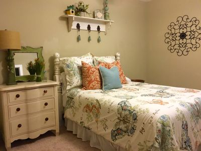 Queen guest bedroom with full bath