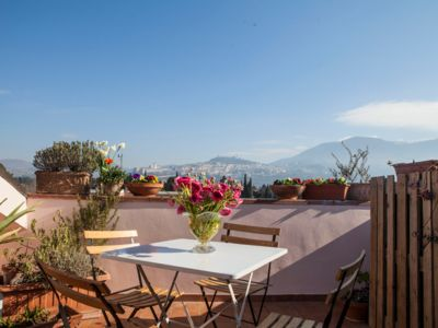 Photo for The Attico Apartment with beautiful view of Assisi