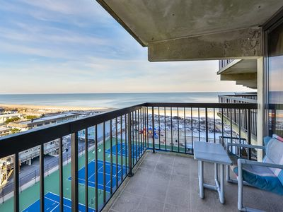 Photo for Charming, unique 2-bedroom oceanfront condo with southwest decor, free WiFi, an indoor and outdoor pool, and more located uptown just steps from the beach!