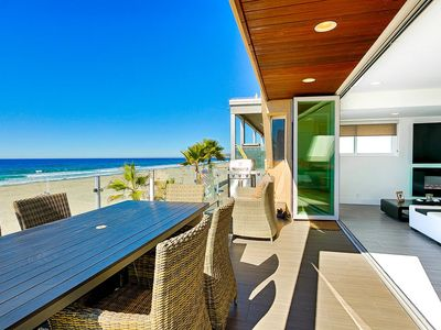 Photo for Retractable doors & incredible views! Luxury Beach Front Penthouse on Mission!