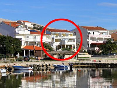 Photo for Apartment in Kustići (Pag), capacity 2+3