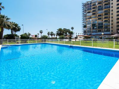 Photo for Air-Conditioned Apartment Directly on Beach with 4 Pools, Balcony, Sea Views & Wi-Fi