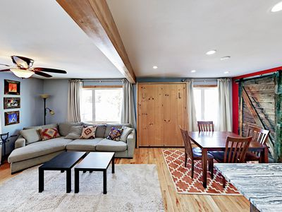 Photo for Renovated 2BR Townhouse w/ Free Ski Resort Shuttle – 1 Block to Main Street