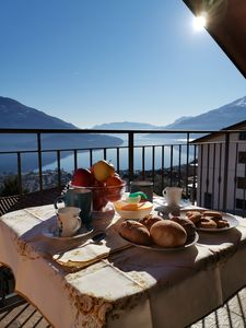 Photo for bright apartment with balcony overlooking the lake