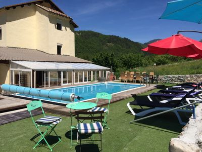 Photo for Villa 26 beds, SPA. 2 swimming pools 45 minutes from Nice (up to 40 beds)