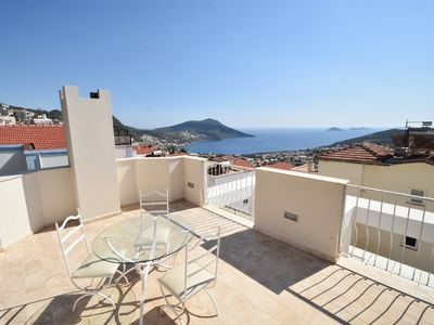 Photo for Stylish 3 bed villa with stunning sea views and totally private pool
