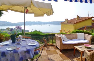 Photo for Garden apartment in Villefranche sur Mer for 4-5 persons with wi-fi