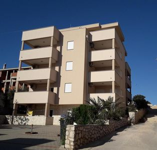 Photo for Two bedroom apartment with terrace and sea view Mandre, Pag (A-18243-a)