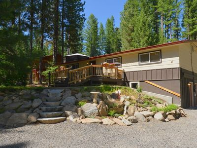 Photo for Large Home Close to Town with Parking, Hot tub, Fire Pit and more