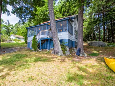 Photo for Charming lakefront cottage w/ kayaks, a dock, 2 decks & lovely views!