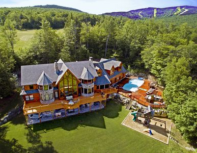 Photo for 9 Bdrm Lux Estate w/ Endless Amenities, Movie Theater, Pool, Arcade Spa Golf Ski