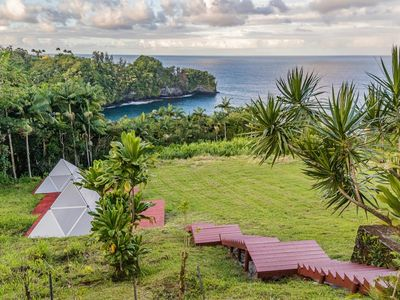 Photo for Breakfast and Yoga Included | Glamping Pyramid with Ocean Views