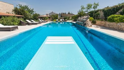 Photo for Stone villa near sea with large swimming pool