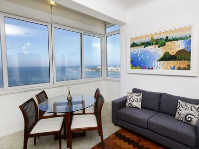 Photo for Rio079-Beach front apartment with three bedrooms  in Copacabana