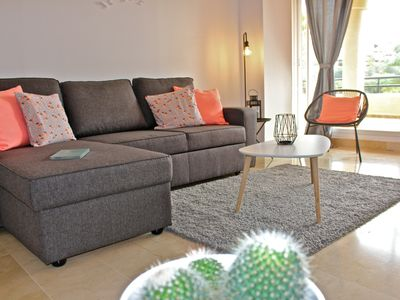Photo for Beautiful apartment 2 bedrooms with 60 sqm terrace looking over the golf