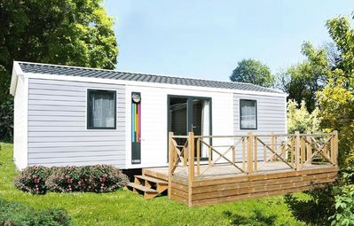 Photo for Camping La Marmotte ** - Mobil Home Bermuda 3 Rooms 6 People