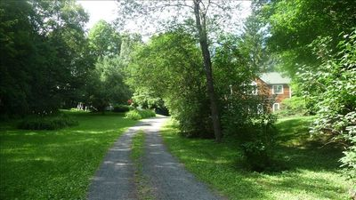 Privacy is yours: driveway to house and gardens. Enjoy natures' peace and quiet.
