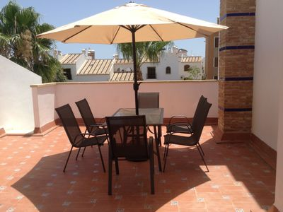 Photo for LUXURY 2 bed pool side bungalow/villa near golf and beaches. Aircon/Wi-Fi