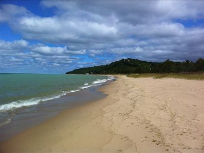 Photo for Lake Michigan Ground Level Homestead Beachfront!  Kid Friendly
