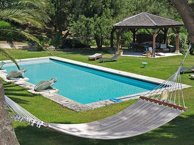 Photo for 2-4pers barn with pool in a private domain near St Florent