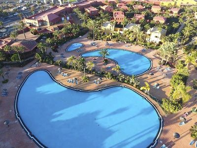 Photo for Large 1 Bedroom ground apartment with lovely pools & gardens, Corralejo