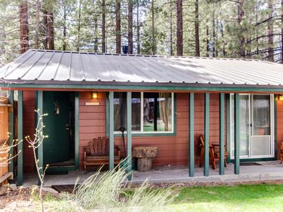 Photo for Dog-friendly w/ shared hot tub, fireplace, fenced grounds! Lake Tahoe nearby!