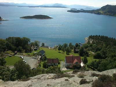 Photo for Apartment for 6 people on Skorpo with a fantastic view of the fjord