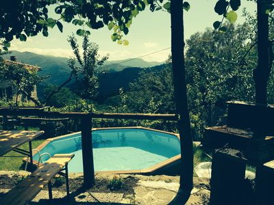 Photo for Tuscan House and garden with stunning views near Bagni di Lucca