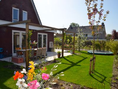 Photo for Family house with atmosphere and comfort. Large, sunny garden and near the beach!
