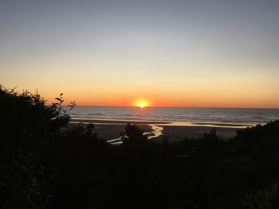 Sunset from the enchanting beach trail