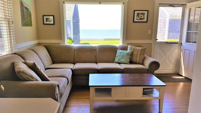Living room with bay view