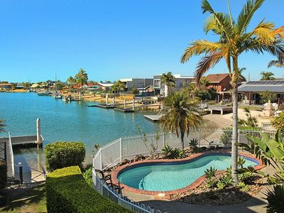 Photo for 2 bedroom + Sofa bed (sleep 6) apartment on canal in the heart of Mooloolaba 25% off February..