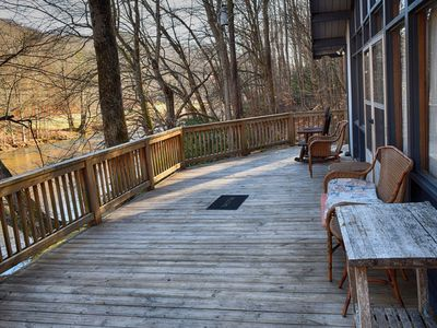Photo for Enjoy the River from your front porch rocker