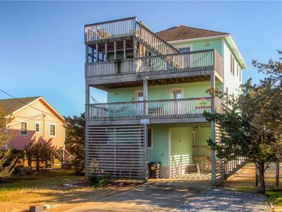 Photo for Oceanview Island Escape in Salvo w/ Pool, Hot Tub, Game Room, Screened Porch