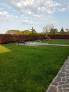 Photo for Sea view apartment with garden and playground