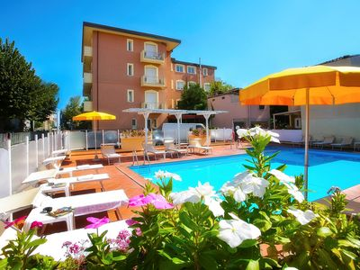 Photo for Holiday apartment away with air conditioning only 100 m from beach