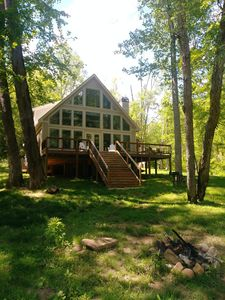 Photo for Dahlonega Chalet on the Chestatee River. Very private and family friendly.
