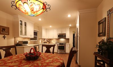 Fully equipped eat-in kitchen.  All appliances including dishwasher.