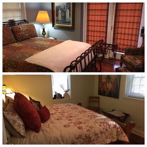 Suite 1st room:  Queen Bed sleeps 2 2nd room: King Bed sleeps 2 Shared Bath