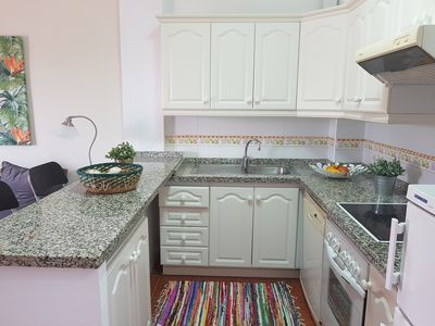 Photo for NEAR BEACH. 90 METER. 2 DOUBLE ROOMS. KITCHEN GREAT TERRACE SEA VIEWS. WIFIPARKING