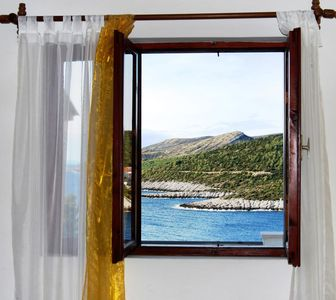 Photo for Two bedroom apartment with terrace and sea view Zavalatica (Korčula)