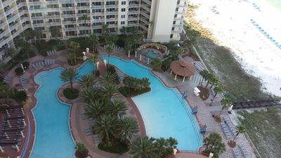 Lagoon Pool as seen from unit 2108 Balcony.