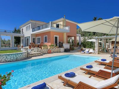 Photo for 4 bedroom Villa, sleeps 8 in Lygia with Pool, Air Con and WiFi