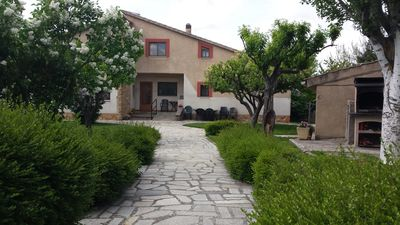 Photo for Rural house Las Tuyas, 6-8 places, next to ciud Segovia, garden, pets, internet
