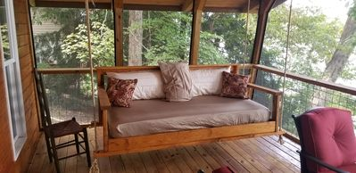 This bed swing is perfect for afternoon naps.